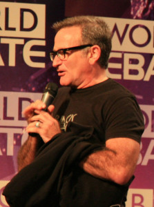 English: Robin Williams, U.S. actor, at the 2008 BBC World Debate. (Photo credit: Wikipedia)